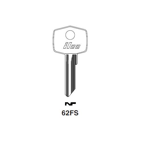 Ilco 62FS Key Blank : Aston Martin, British Leyland, Jaguar, Norton, Triumph Motorcycle, Volvo