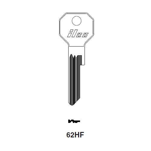 Ilco 62HF Key Blank : Rolls Royce, Bentley