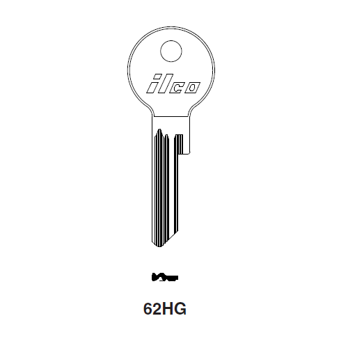 Ilco 62HG Key Blank : Rolls Royce, Bentley