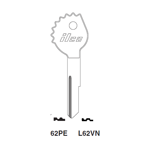 Ilco 62PE Key Blank : Opel