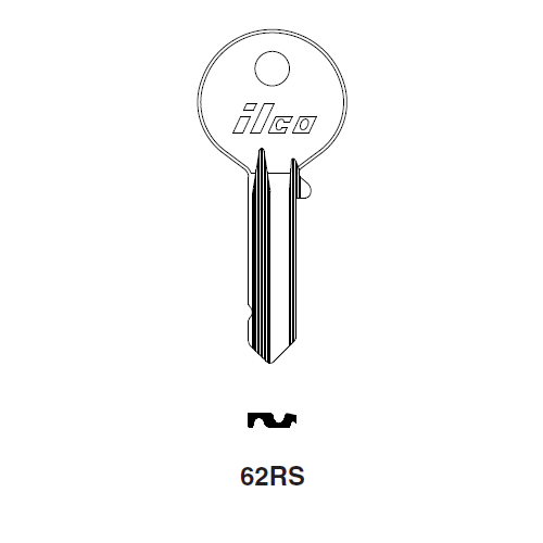 Ilco 62RS Key Blank : Citroen, Simca, Talbot, Matra