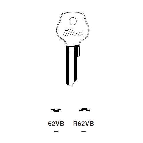 Ilco L62VB Key Blank : DKW, Porsche, VW