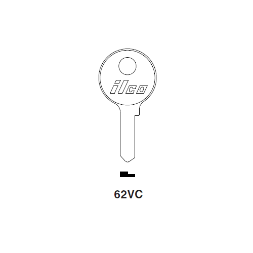 Ilco 62VC Key Blank : Ford International, Renault, VW