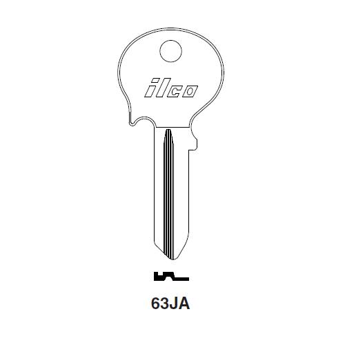 Ilco 63JA Key Blank : Mercedes Benz