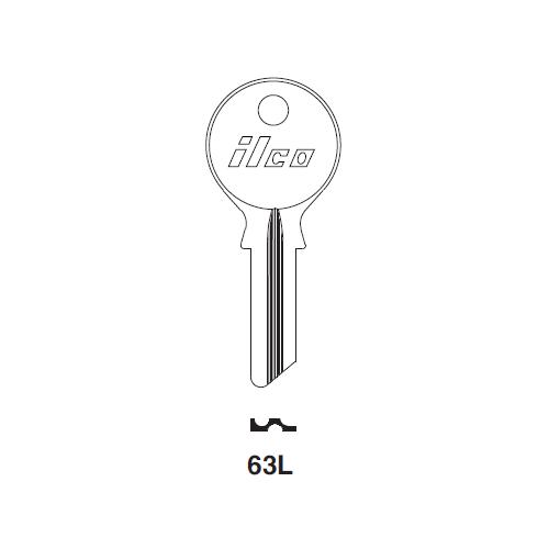 Ilco 63L Key Blank : BMW, DKW, LKW, Lloyd, Tempo, Zundapp,