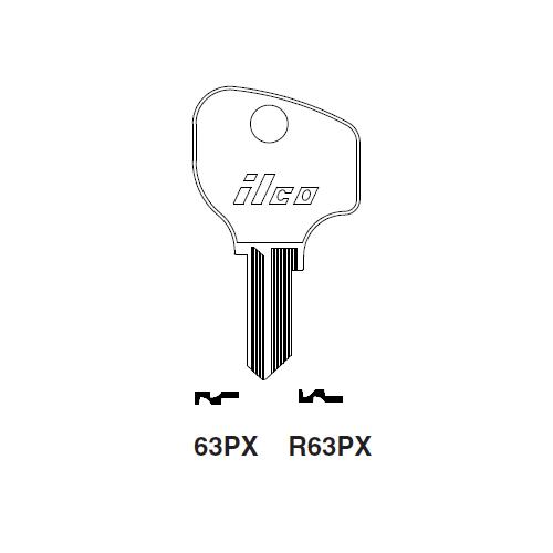 Ilco 63PX Key Blank : Peugeot