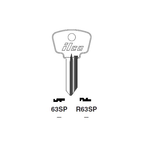 Ilco 63SP Key Blank : Alfa Romeo, Fiat