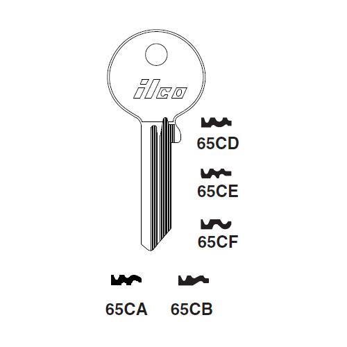Ilco 65CA Key Blank : Skoda