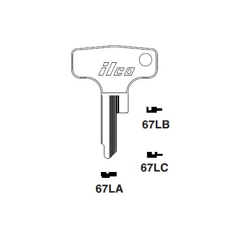 Ilco 67LB Key Blank : Honda Motorcycles