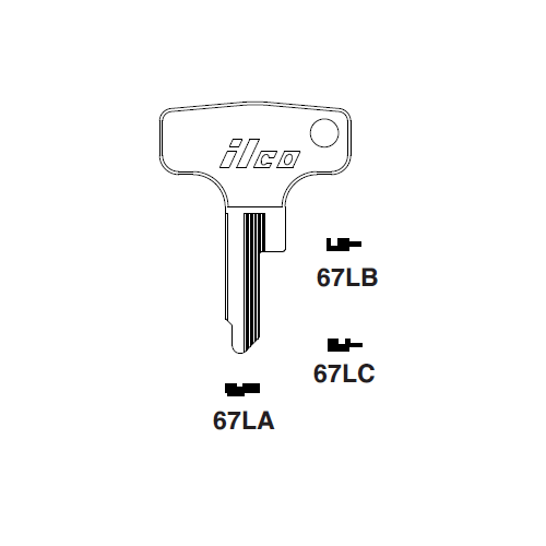 Ilco 67LC Key Blank : Honda Motorcycles
