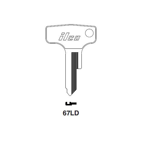 Ilco 67LD Key Blank : Honda Motorcycles