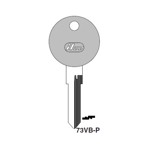 Ilco  73VB-P Audi, Porsche, Volkswagen Plastic Head Key Blank; ( 73VB,  X9 )