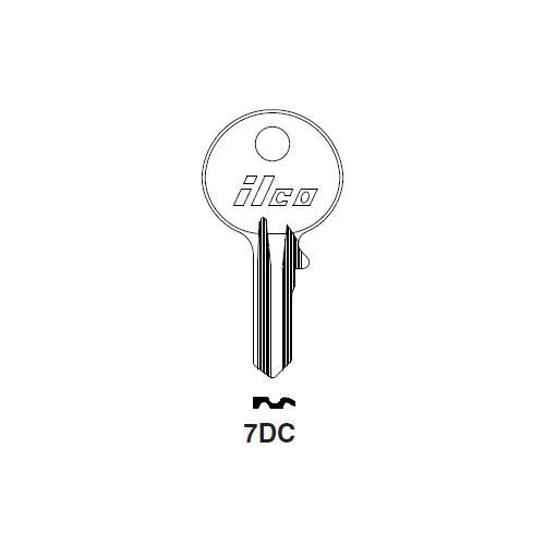 Ilco 7DC Key Blank : Citroen, Panhard, Peugeot, Ronis