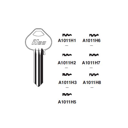 Ilco A1012-H8 Key Blank : Corbin, Russwin