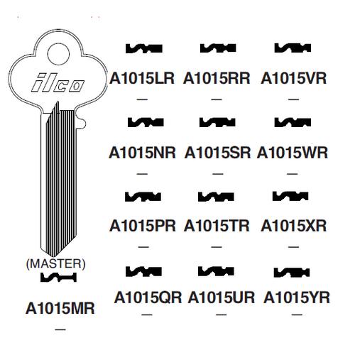 Ilco A1015SR Key Blank : Lockwood - B318S