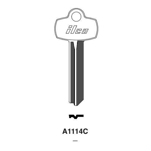 Ilco A1114C, 1A1C1 Key Blank : Best - 1A1C1