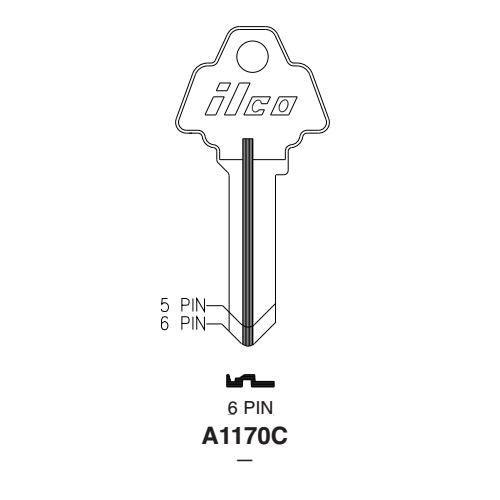 Ilco A1170C Key Blank : Challenger