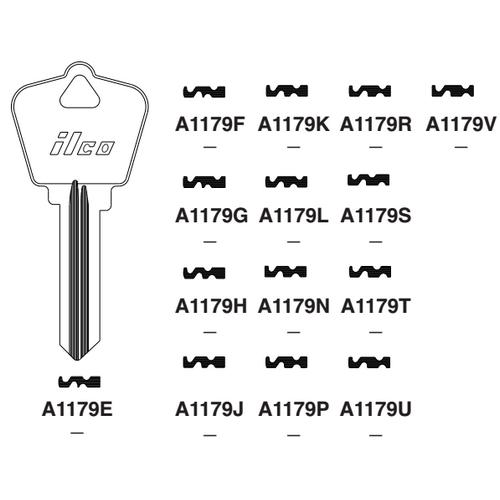 Ilco A1179G Key Blank : Arrow - 91G