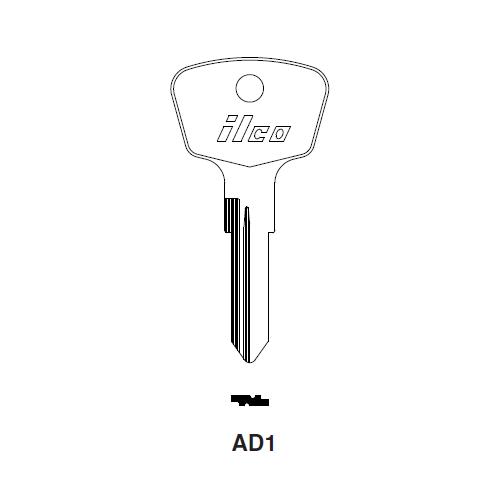 Ilco AD1 Key Blank : Audi, Opel, Viking