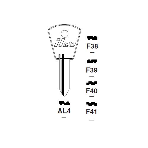Ilco F38 Key Blank : Alfa Romeo, Fiat