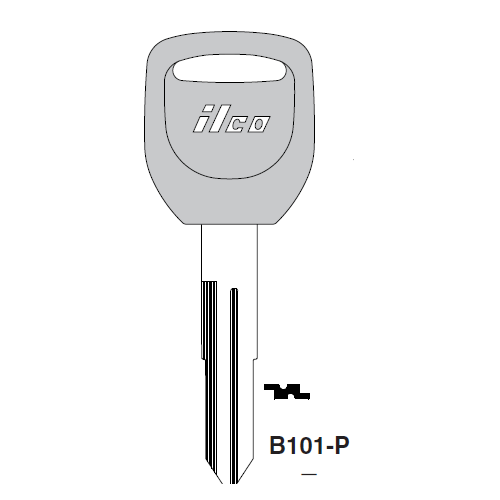 Ilco  B101-P Honda Automobiles, Isuzu Plastic Head Key Blank; ( B101,  X250 )