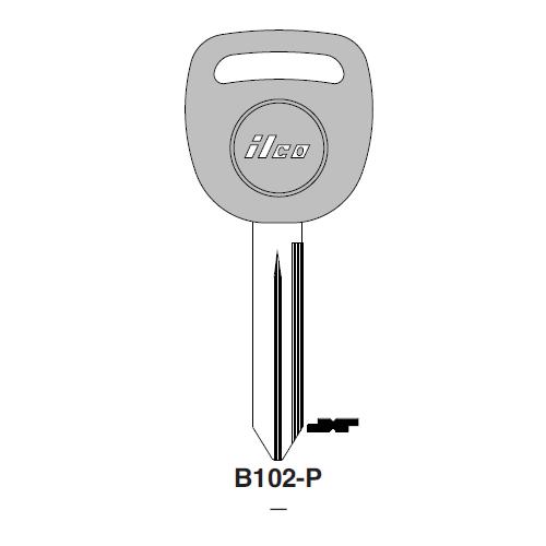 Ilco  B102-P General Motors Plastic Head Key Blank; ( B102,  P1113 )
