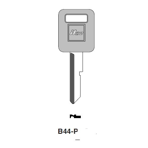 Ilco  B44-P General Motors Plastic Head Key Blank; ( B44,  P1098E )