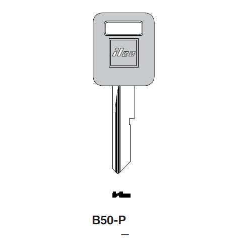 Ilco  B50-P General Motors Plastic Head Key Blank; ( B50,  P1098C )