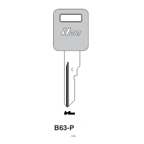 Ilco  B63-P General Motors Plastic Head Key Blank; ( B63,  P1098CV )
