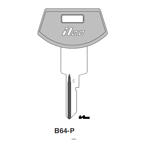 Ilco  B64-P General Motors Plastic Head Key Blank; ( B64,  P1098WC )
