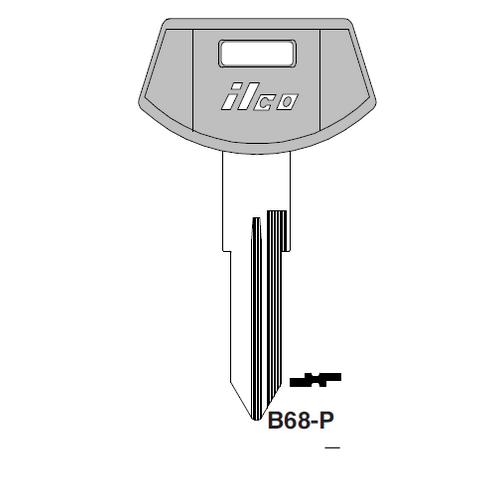 Ilco  B68-P General Motors Plastic Head Key Blank; ( B68,  P1099 )