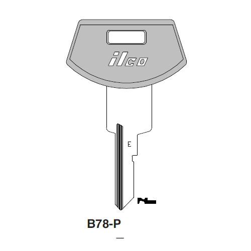Ilco  B78-P General Motors Plastic Head Key Blank; ( B78,  P1098WE )