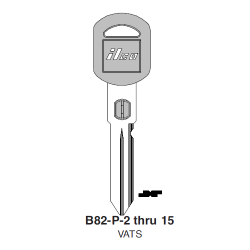 Ilco B82-P-2 Double Sided GM VATS Key Blank #2