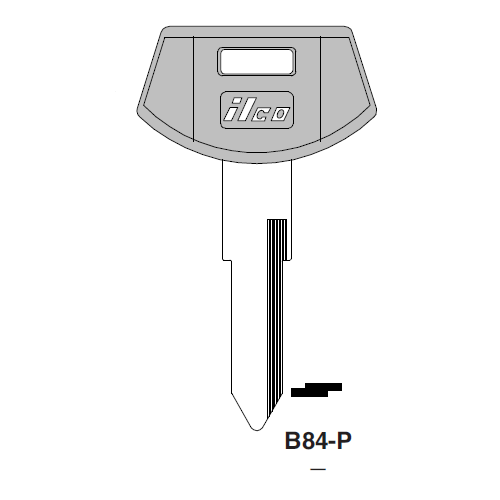 Ilco  B84-P General Motors Plastic Head Key Blank; ( B84,  P1101 )