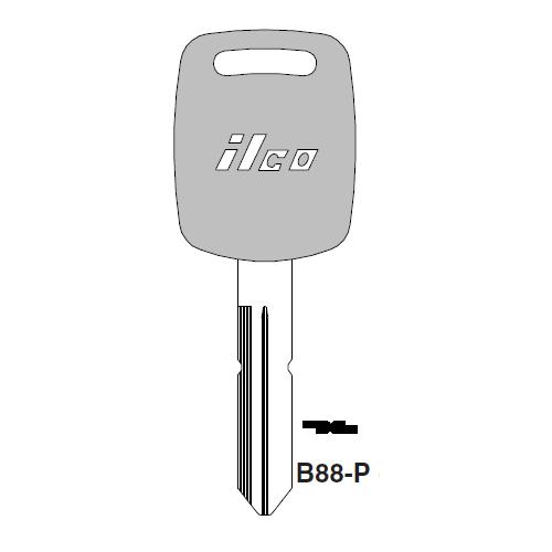 Ilco  B88-P Saturn Plastic Head Key Blank; ( B88,  P1108 )