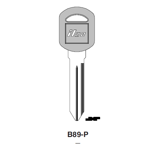 Ilco  B89-P General Motors Plastic Head Key Blank; ( B89,  P1107 )