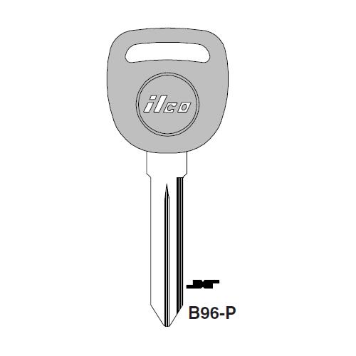 Ilco  B96-P Saturn Plastic Head Key Blank; ( B96,  P1110 )