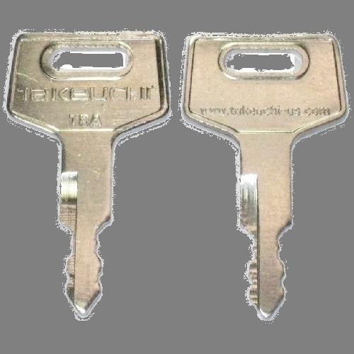 Ilco DBK17 Key Blank : Takeuchi - pre-cut