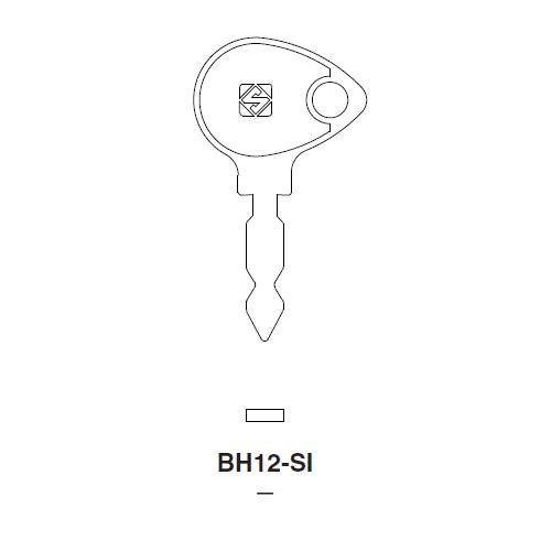 Ilco BH12-SI Key Blank : Borguard