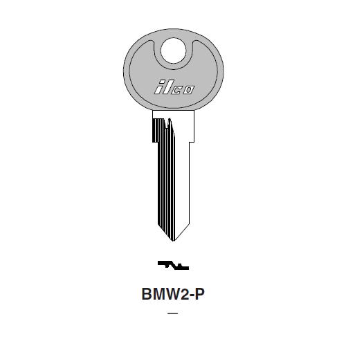 Ilco  BMW2-P BMW, BMW Motorcycle Plastic Head Key Blank; ( BMW2,  X59 )