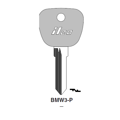 Ilco  BMW3-P BMW Plastic Head Key Blank; ( BMW3,  X144 )