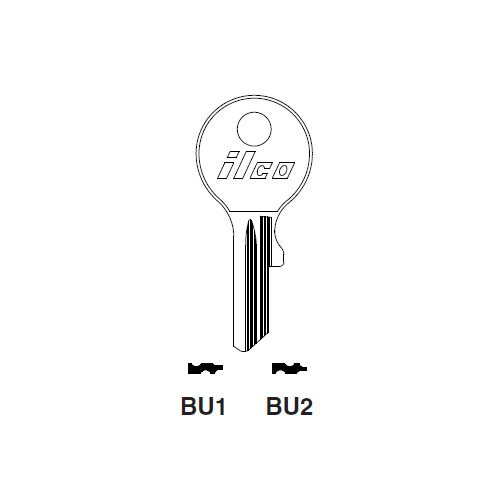 Ilco BU2 Key Blank : DKW, Ford International, Opel