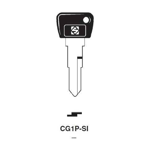 Ilco  CG1P-SI Cagiva Plastic Head Key Blank