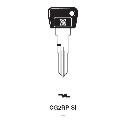 Ilco  CG2RP-SI Cagiva Plastic Head Key Blank
