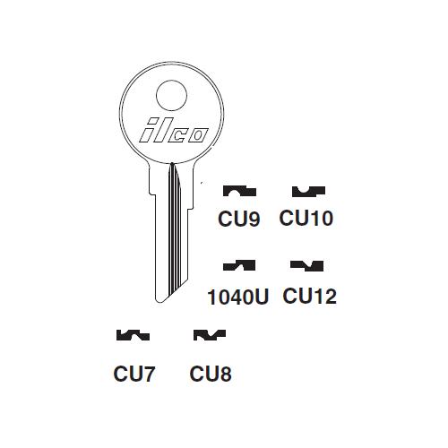 Ilco CU7 Key Blank : Mercury, Mariner Outboards