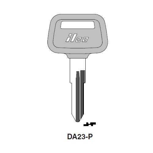 Ilco  DA23-P Nissan, Subaru Plastic Head Key Blank; ( DA23,  X115 )