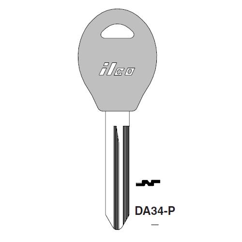 Ilco  DA34-P Nissan Plastic Head Key Blank; ( DA34,  X237 )