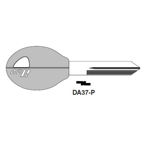 Ilco  DA37-P Nissan Plastic Head Key Blank; ( DA37,  X242 )