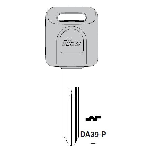 Ilco  DA39-P Nissan Plastic Head Key Blank; ( DA39,  X268 )