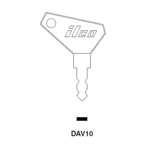 Ilco DAV10 Key Blank : Nagirus-Deutz